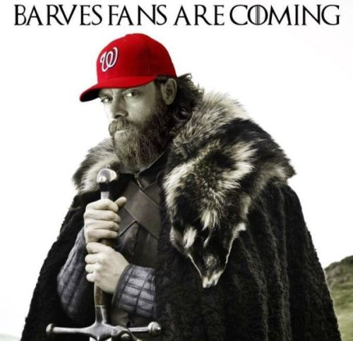 la-poltrona:  Jayson Werth using 'Game of Thrones' theme as walk-up music (x).
