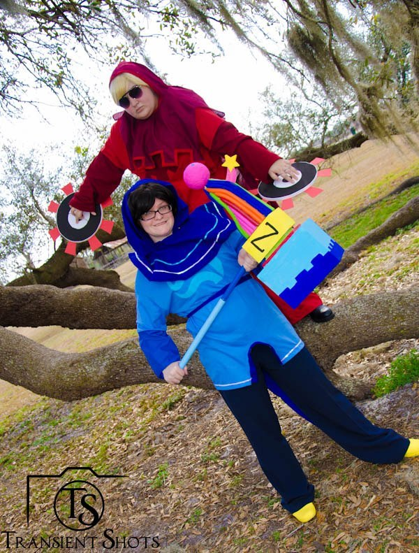 transientshots:  Homestuck Photoshoot on 2.23.13 Dave Strider Cosplayer: LadyKana John Egbert Cosplayer: Maeanalda Photo by: Transient Shots on FB and Transient Dreamer on Da
