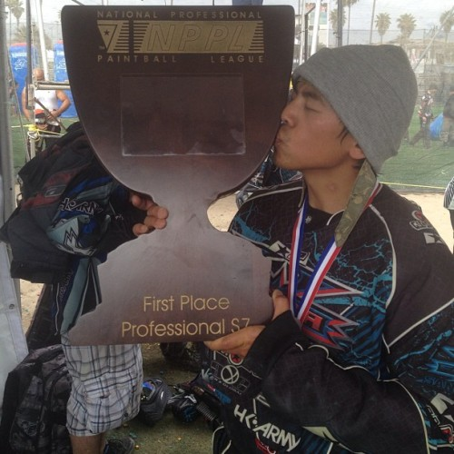 1st place!!! #xfactor #sanantonioxfactor #bkit #paintball #heart  (at NPPL HB 2013)