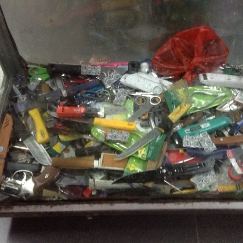 Box of confiscated goods @ Noi Bai Int'l Airport (at Vietnam)