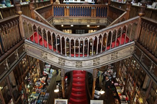 "the-noir-gentleman:  Inside ""Lello & Irmão"" book shop in Porto, Portugal"