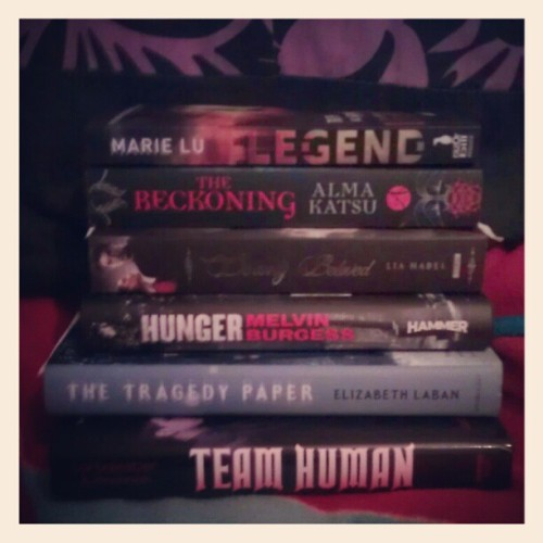 Books from the past couple of days. #bookhaul #MarieLu #AlmaKatsu #LiaHabel #MelvinBurgess #ElizabethLaben #JustineLarbalestier #SarahReesBrennan
