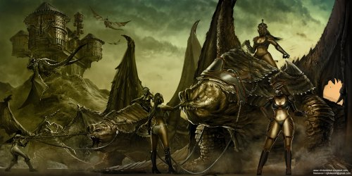 Rancor Dragon Riders by Clinton Felker.