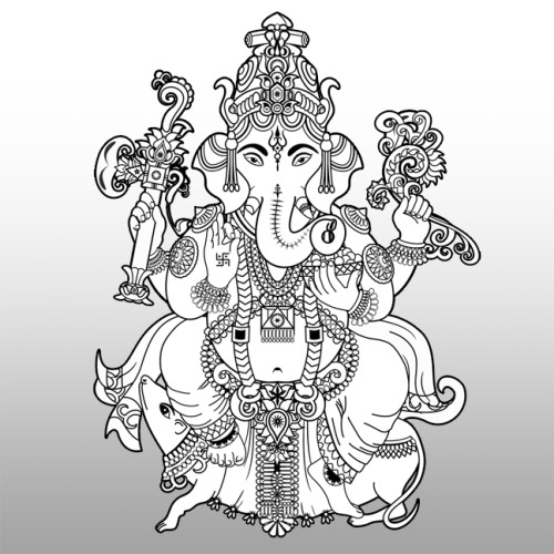 coy-placido:  Ganesha by Folding 8