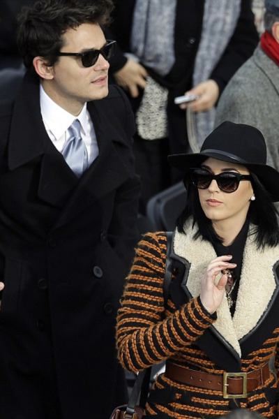 John Mayer + Katy Perry  at the 2013 Presidential Inauguration on Monday