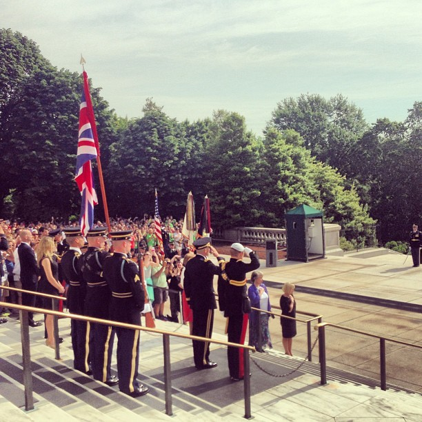 meatkins:  #PrinceHarry at Arlington National Cemetery #PrinceHarryUSA (at Tomb of the Unknowns)