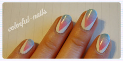 Gradient Triangles - followed this tutorial from the very talented nail blogger at Pshiiit.com.