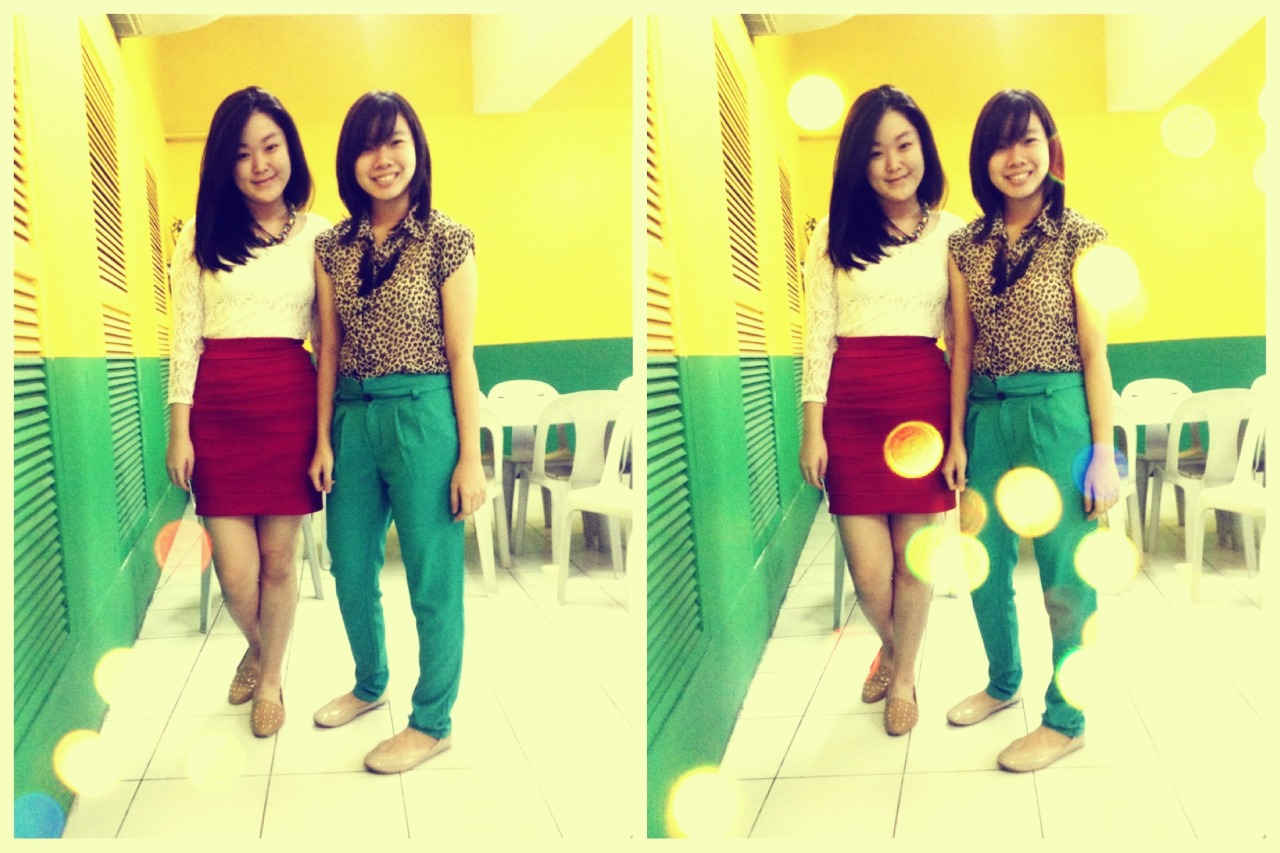 English Congress *2012*  Styled my bestfriend!! Top From: Mango  Skirt frpm Bianca Chiong (http://biancaxaika.blogspot.com/) Shoes: Girls Heaven (http://www.facebook.com/girlshavenshop?fref=ts)  Braided necklace from F21 On Arlene!  Top from Pink Manila Pants from Pink Manila Tassel necklace from 50th Ave  Shoes from: Payless I think..? HEHE