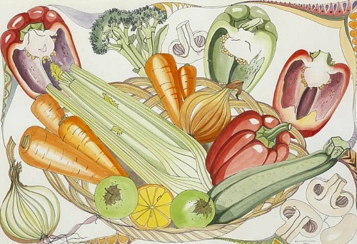 Bridget Flinn Still Life with Vegetables 1987