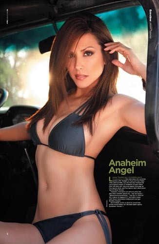 Sexy UFC tv host Leeann Tweeden features in the latest edition of Sport magazine, UK.Image from our shoot 'Leeann Tweeden :: hot wheels', available for worldwide editorials (and advertorials with approval).