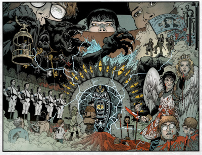 part2of3:  Locke & Key inside Zack Wells head  art by Gabriel Rodriguez