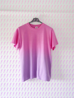 DOM SEBASTIAN — Pink & Purple Gradient T Shirt