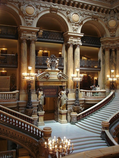 Staircase, The Opera House, Paris photo via koichiro