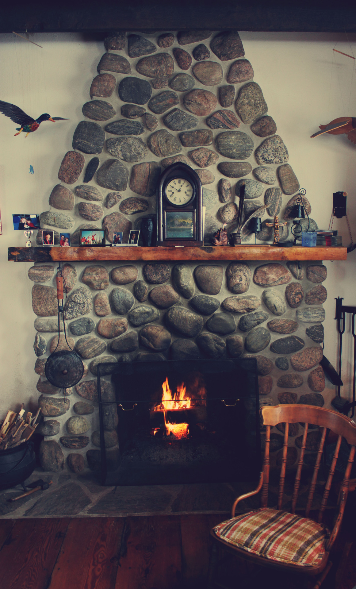 Cabin Fireplace - by Thomas