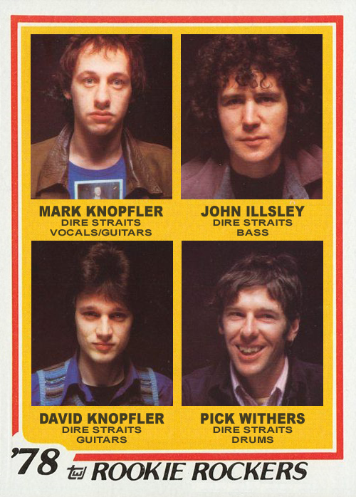 Dire Straits 2018 Rock and Roll Hall of Fame inductees virtual custom trading card 1978 Topps