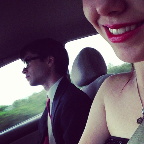 Lol, look at dat smile @nevadora #prom #love #driving