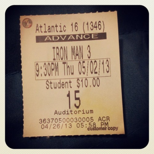 #IronMan3 - Funny. Exciting. Charming. Let's be real, it's Iron Man, what did you expect!? #movies #reviews #MovieReviews #IronManThree #Marvel (at Regal Atlantic Station Stadium 16 & IMAX)