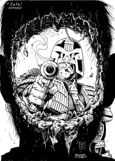 stateoftheartandmind:  Judge Dredd commission by Tony Moore  I, AM, THE LAW!!