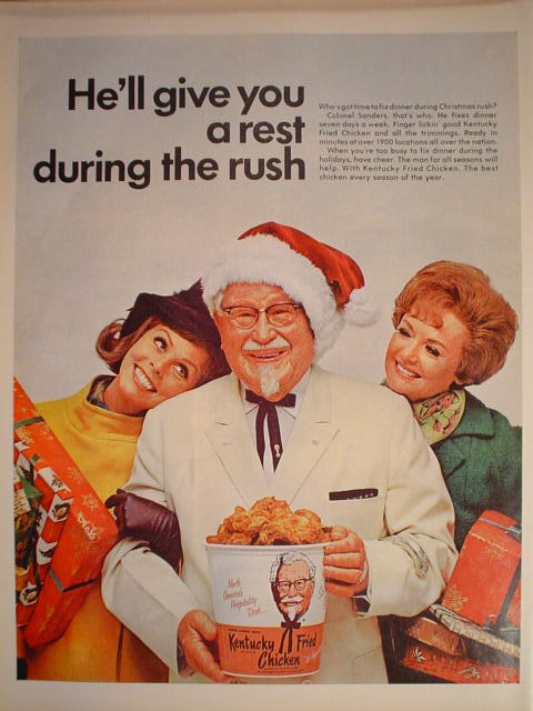 Kentucky Fried Chicken (KFC) ad, 1968