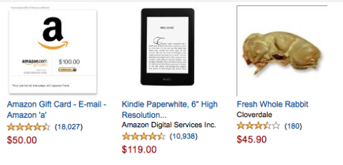 Oh, just some items people are looking at on Amazon right now.