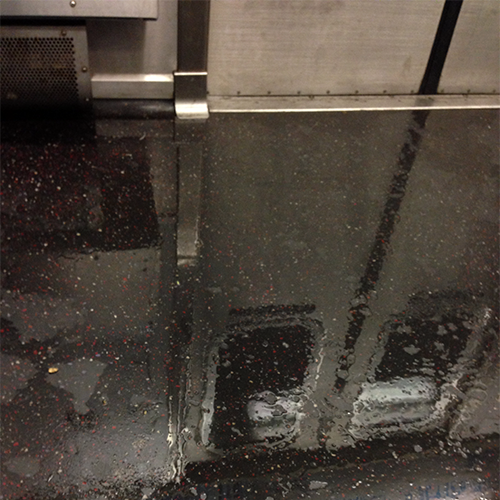 Wet Subway Floor Made a Reflection So What the Hell I Took a Pic by topherchris