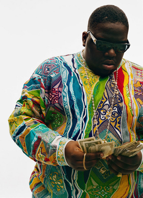 sophisticationofignorance:  Coogi down to the socks like I'm Big Poppa… Happy Bithday B.I.G.