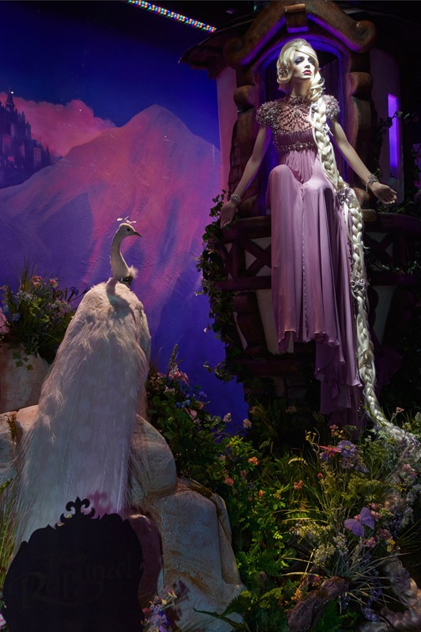 Rapunzel by Jenny Packham / Disney Princesses at Harrods, London 2012.