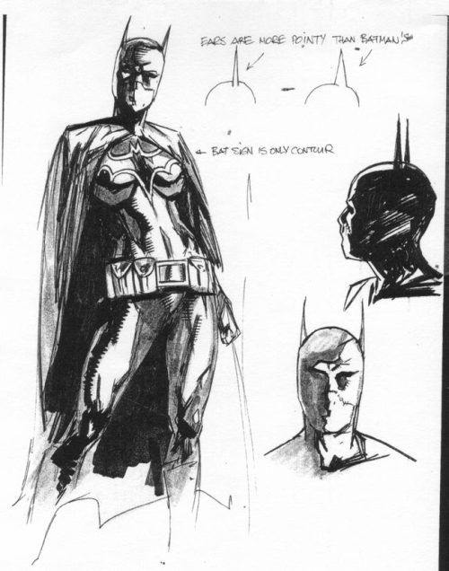 Batgirl design (Cassandra Cain), art by Alex Maleev.