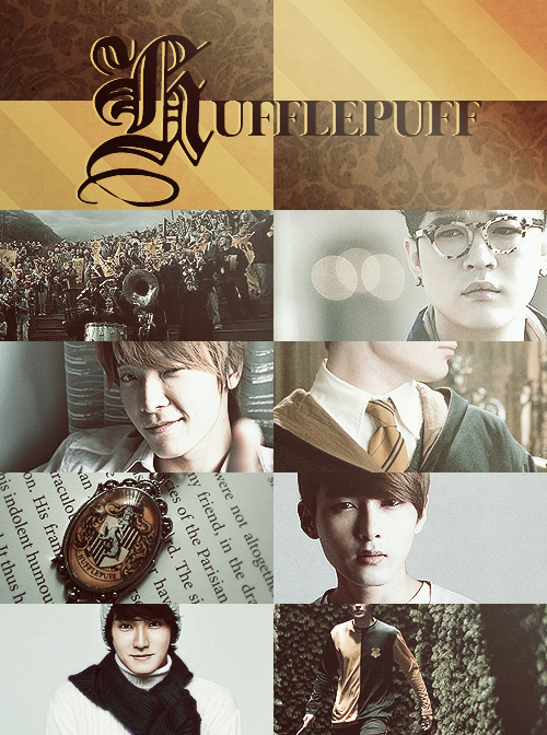 Super Junior x Hogwarts Houses » Hufflepuff