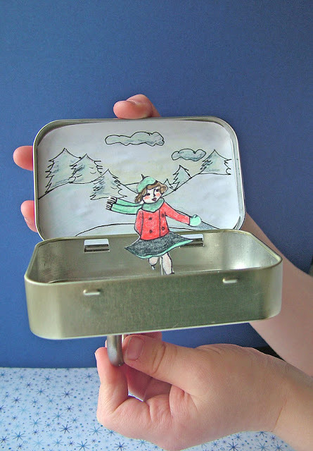 fuckyeahcraft:  Magnetic ice skater in Altoids tin.