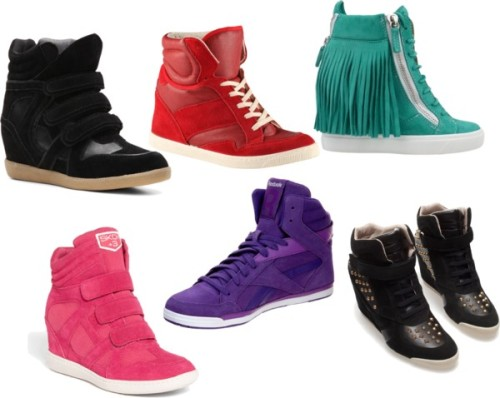 Sneakers por frida-minuet con hi top sneakersGiuseppe Zanotti lace up heels, $935 / ALDO  / Zara  shoes / Skechers wedge shoes / Reebok hi top sneaker, $91 / Heart Soul hi top sneaker