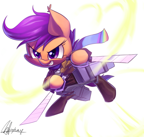 Attack on Scootaloo by ~jggjqm522