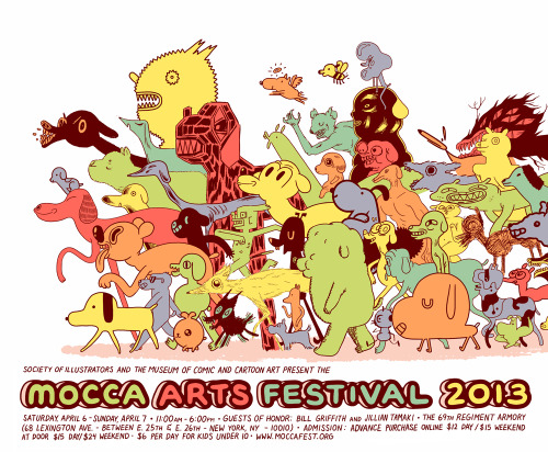 kingtrash:  MOCCA 2013 poster. Special thanks to Tucker Stone for hooking me up with the gig!  I'll be at MoCCA Arts Fest again this year with my fellow alumni, Chase Stone! More info in the future along with what I'm selling.