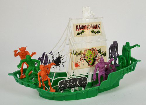 The Haunted Hulk, W/ MPC Monsters (1960s) [Via toyranch / flickr]