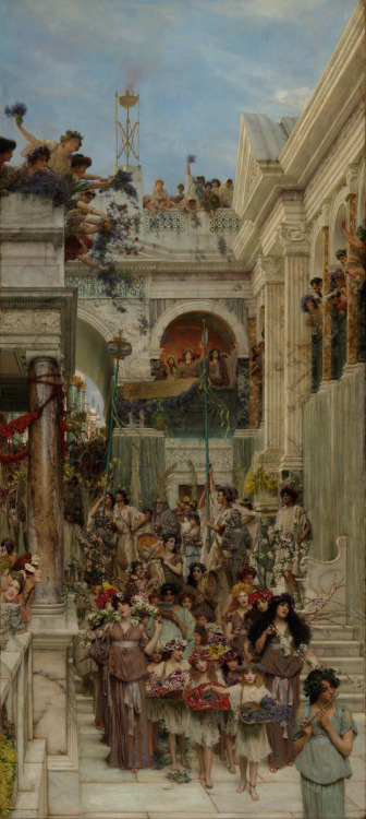 Lawrence Alma-Tadema - Spring; The Getty Center, Brentwood, Los Angeles, California; 1894