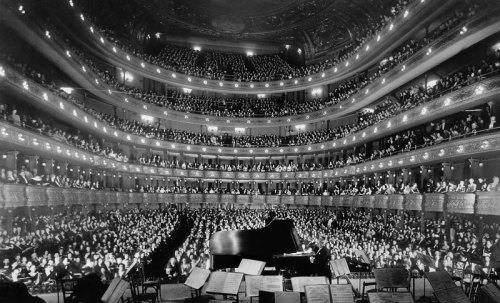 leadingtone:  Josef Hofmann performs at the old Metropolitan Opera (National Archives & Records Administration)