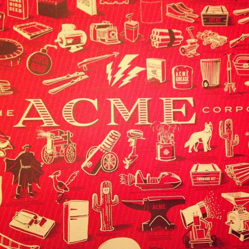Received my Rob Loukotka #ACME Corp print in the mail. Pretty incredible quality. 👍 @FringeFocus
