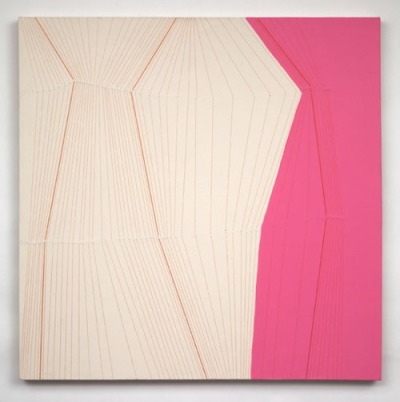 kaitlincarroll:  Holly Miller - Bulge # 24, 2009, acrylic and thread on canvas, 36 X 36 inches