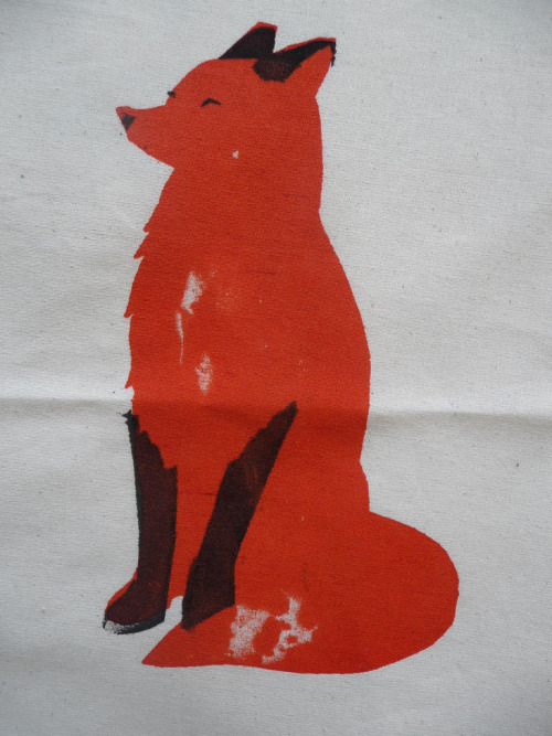 colinquinn:  Fox Screen Print (by Charlotte Powell on Flickr)