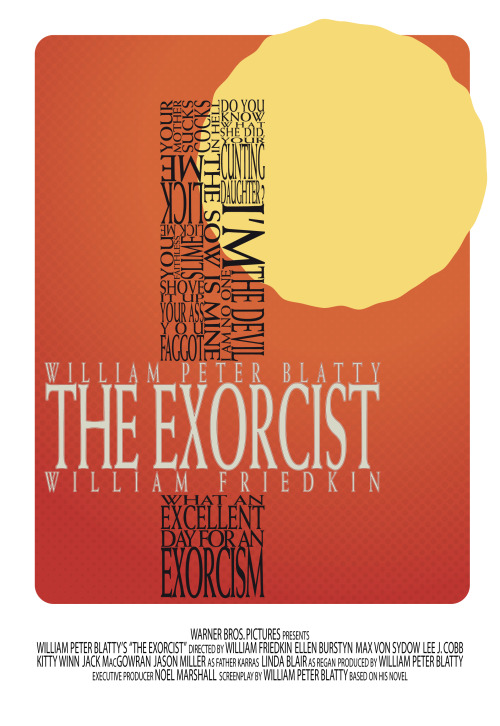 The Exorcist poster by James Crosby.