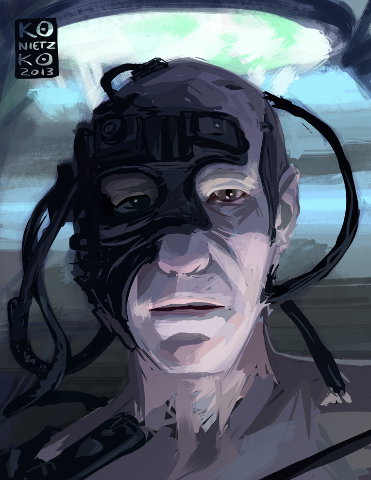 bryankonietzko:  Here's my Picard post-Locutus fanart to accompany Part 2 of my appearance on The Big Pull Podcast, which is up now. Here are links on iTunes and Podbay. We finally make it to our top two personal favorite episodes of Star Trek: The Next Generation, among many other things, some of which may interest you… if you're into… things, and such. Much more eloquent on the podcast, I assure you! Hope you enjoy.  You will service…us.