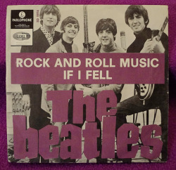 "The Beatles ""Rock And Roll Music"" / ""If I Fell"" Single - Parlophone Records, Sweden (1965)."