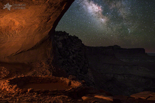 spacettf:  Milky Way Skies From False Kiva by Mike Berenson - Colorado Captures on Flickr.