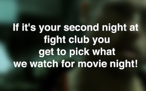 ianbrooks:  The Other Rules of Fight Club Sure you know the first few rules, and yeah we're breaking the first two by just mentioning it here (I'm guessing they intended for us not to blog about Fight Club, though that could be open to interpretation), but did you know that, once administration got involved, there were even more rules added to Fight Club? To make it a more enjoyable experience, of course… because any good system needs rules, otherwise it's just mayhem.   (source: mandatory)