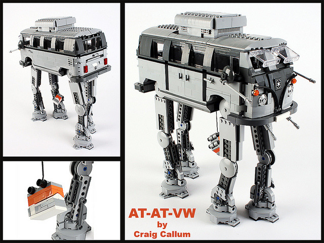 laughingsquid:  AT-AT-VW, LEGO Mashup of an AT-AT Walker From 'Star Wars' & A Volkswagen Bus