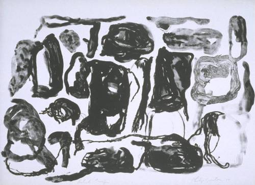 drawpaintprint:  Philip Guston: Untitled (1966) lithograph