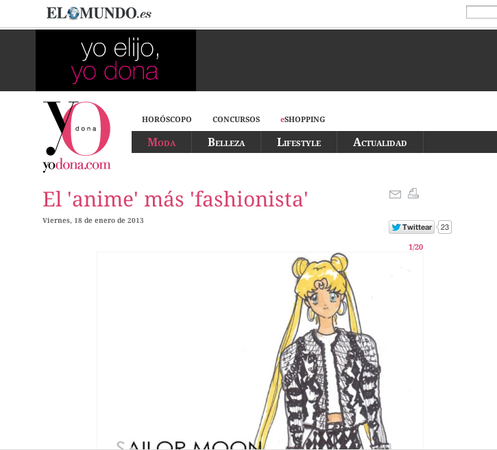 Many thanks to Yo Dona Magazine of Spain for this awesome write up on the illustrations. Please click here to read the whole story.  Live Love See the Style Monk