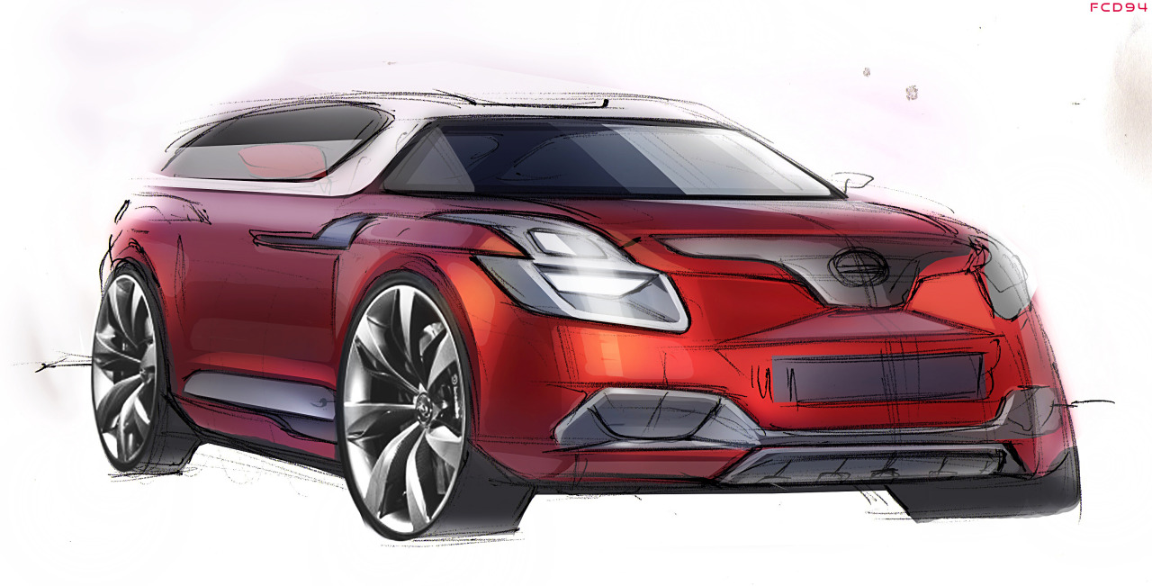 Car Sketch FCD94