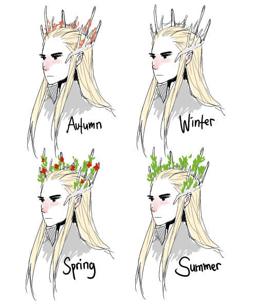 I think thranduil's crown thingy has seasons