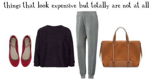 i sincerely believe that you can dress well on any budget, even a minuscule one, so i have gathered a handful of items priced at or under one ulysses s. grant (a fifty-dollar bill, duh) to further support my point. you're welcome. suede-ish ballet flats: asos, $45 fluffy sweater: topshop, $50 track pants: adidas, $50 leather-ish tote: zara, $36 note: this is an ongoing feature. clickhereto check out the past editions.